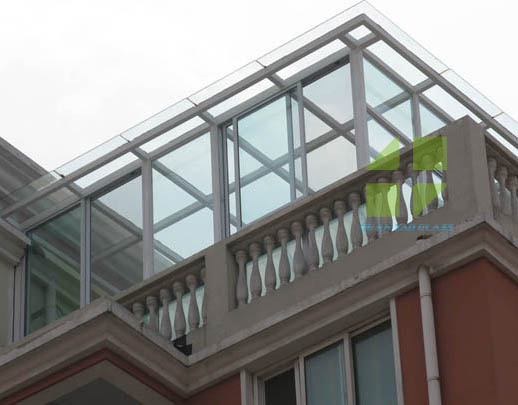 天井阳光房玻璃