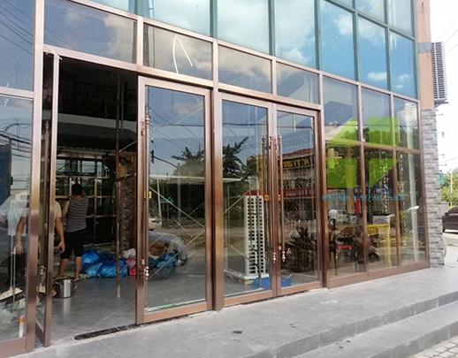 古铜不锈钢玻璃门